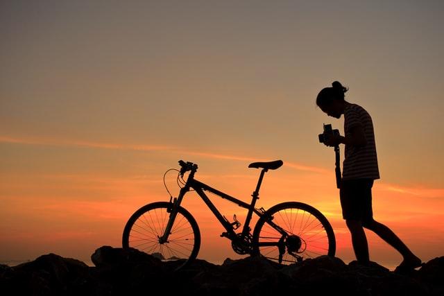 Fahrradfahren in in Hooksiel